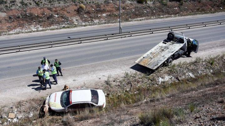Ruta 7: Vuelco impactante con tres heridos