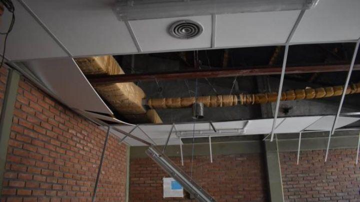 Estaban en clase y se les vino el techo encima