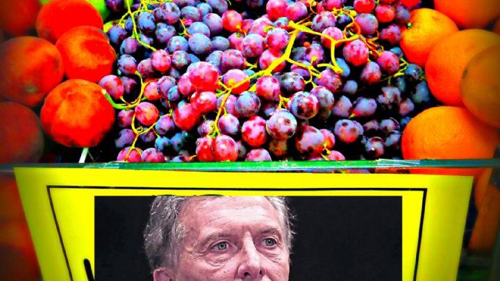 El cartel contra Macri en una verdulería que fue furor
