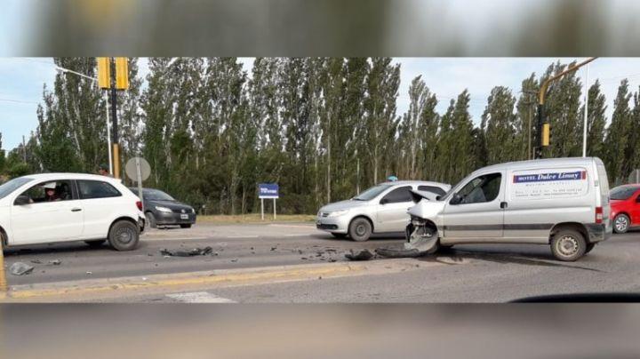 Choque múltiple en la Ruta 7: Cuatro heridos