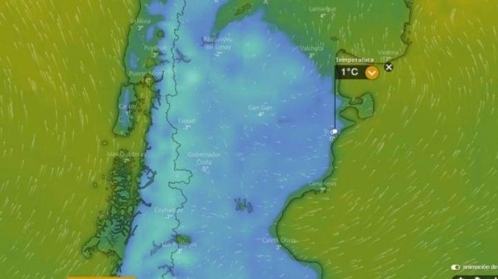 """Desembarca el frío """"bajo cero"""" en la Patagonia"""