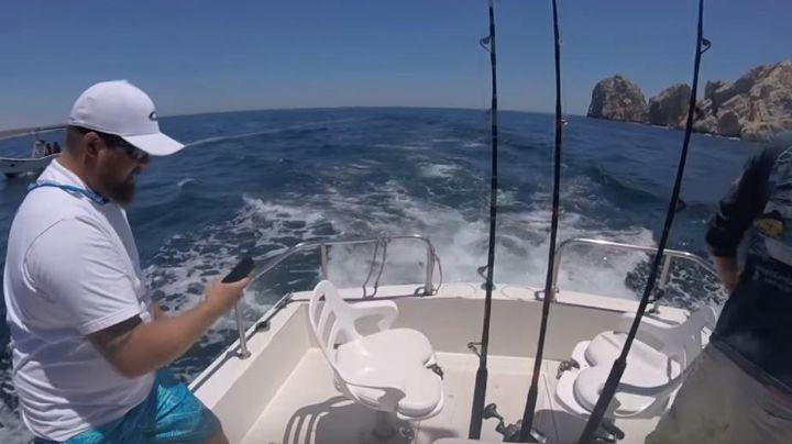 Salieron a pescar y fueron protagonistas de una increíble escena. VIDEO