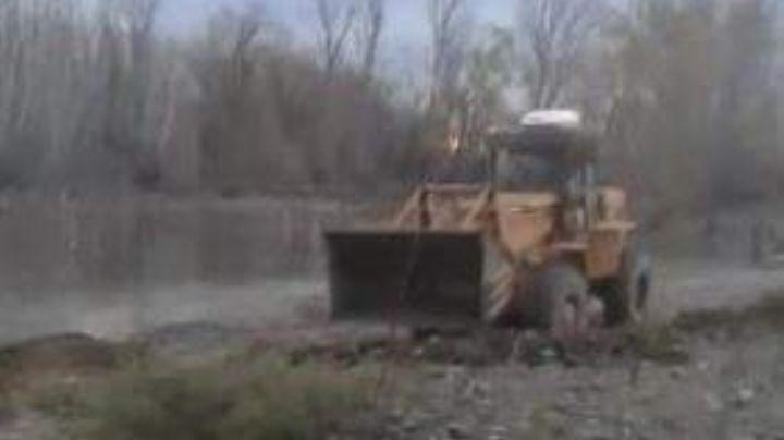 Modificó el cauce del río para que no se le inunde la casa
