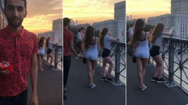 Le jugó broma a dos chicas, pero no tomó en cuenta que...VIDEO