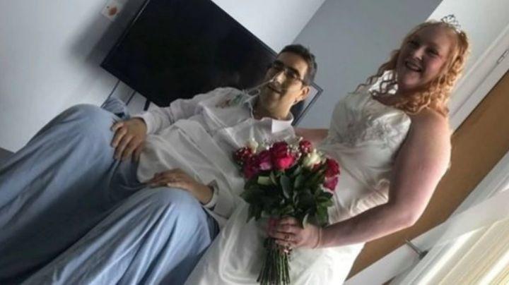 La historia que conmueve al Reino Unido: Se casaron y 13 horas después, se dieron su beso final