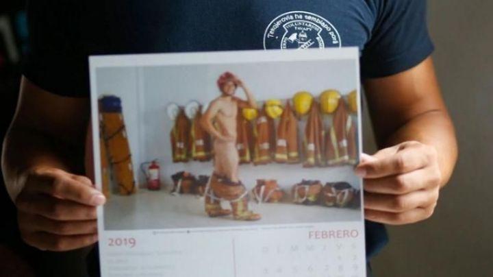 Bomberos se desnudaron en un calendario fogoso para reclamar fondos
