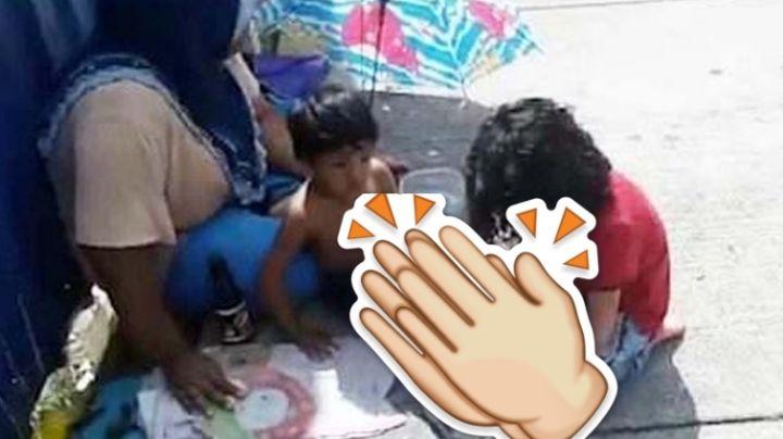 El tremendo gesto de amor de un nene a otro que vive en la calle