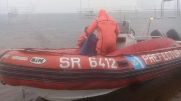 """Con hipotermia"": Rescate de un kayakista en el lago Mari Menuco de Neuquén"