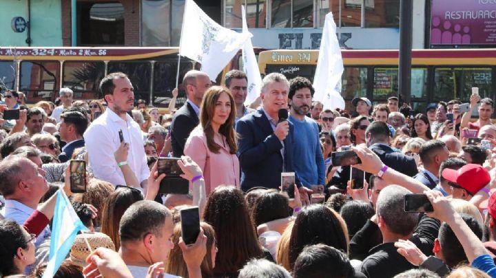 Junto a Vidal, Macri lleva su caravana electoral a Pergamino