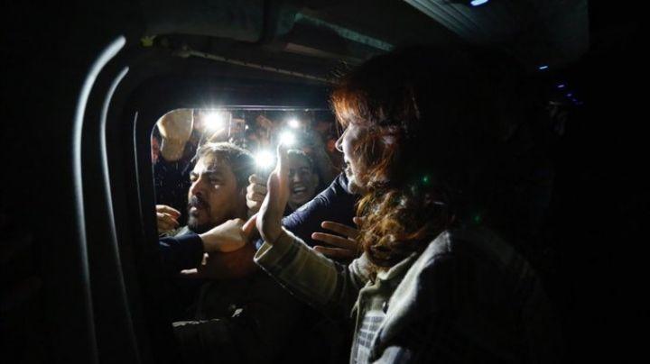 El místico recibimiento a Cristina en La Pampa. VIDEO