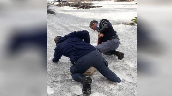 ¡Atrapada en una grieta!: Impactante rescate en Caviahue