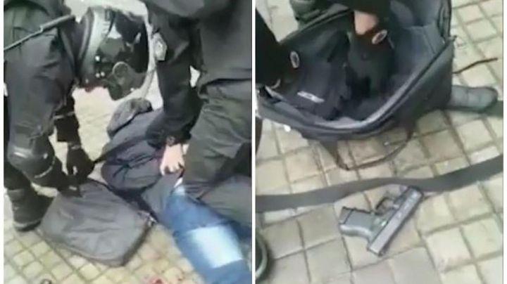 """""""Tiroteo espeluznante"""": Feroz """"lluvia de balas"""" en Rosario entre un ladrón y la policía. VIDEO"""
