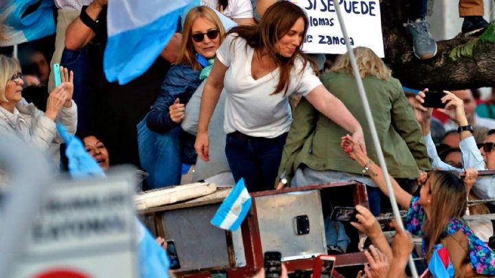 """""""Marcha del millón"""": ¿Por qué Vidal no estuvo en el escenario junto al Presidente?"""