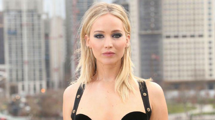 ¿Te gusta? Jennifer Lawrence lució más espléndida que nunca con su vestido de novia
