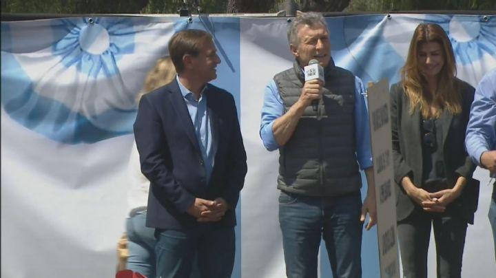 """""""Le decimos no a la impunidad"""", lanzó eufórico Macri en Mendoza"""