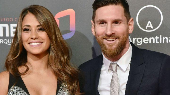 ¡Pará un poco Lionel! Antonela Roccuzzo y una manito indiscreta de Messi...
