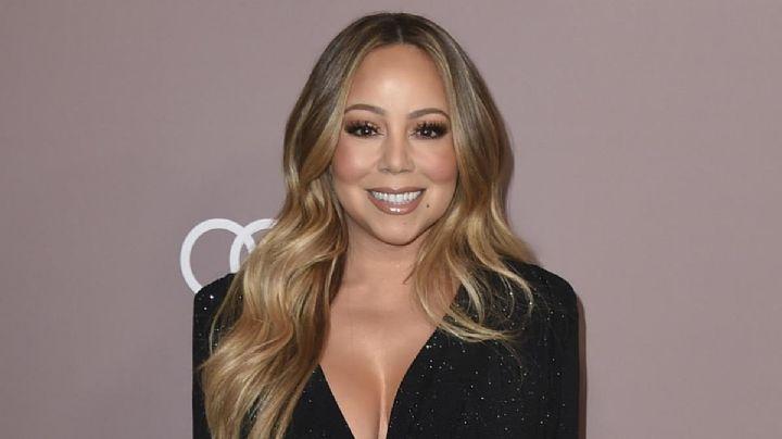 Mariah Carey celebra aniversario de exitoso disco con diminuto vestido y alucinante escote ¡Fuego!