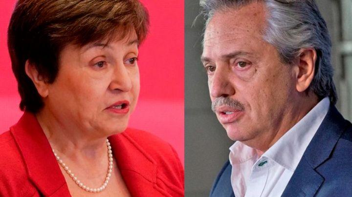 """Fernández y Georgieva coincidieron en las redes: """"el diálogo fue muy productivo y constructivo"""""""