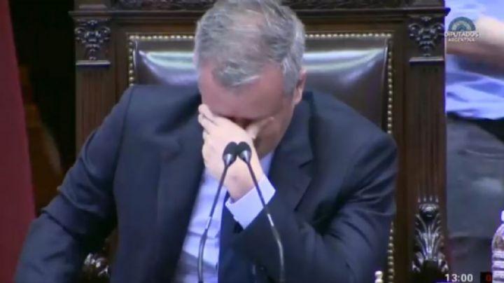 Emilio Monzó rompió en llanto en la Cámara de Diputados
