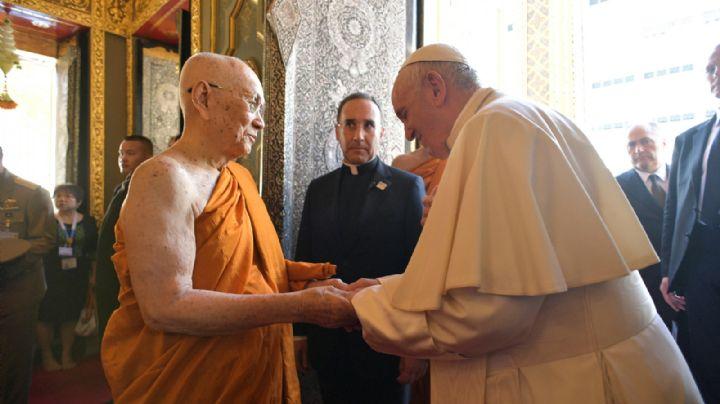 El papa Francisco se reunió con el Patriarca Supremo budista de Tailandia