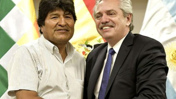 Alberto Fernández recibió a los hijos de Evo Morales
