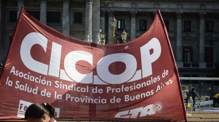 Con quejas para Vidal y advertencias para Kicillof, Cicop se manifiesta en La Plata