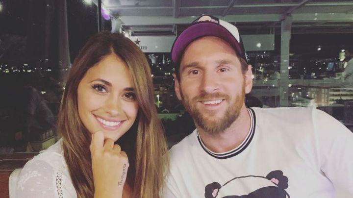 Imperdible: Antonela Roccuzzo filma infraganti a Lionel Messi y el video es viral. ¡Mirá!