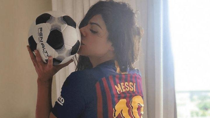 ¡Locura total! Suzy Cortéz mostró su mejor ángulo para festejar los 700 partidos de Messi