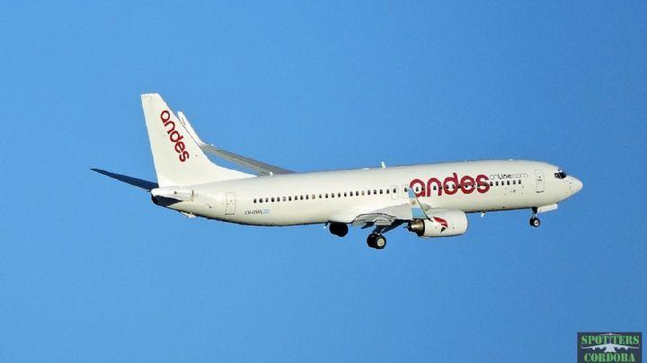 Andes Líneas Aéreas suspendió los vuelos a Bariloche