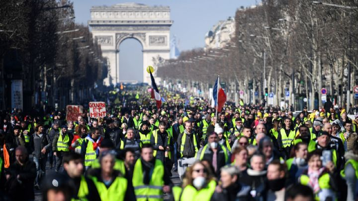 Seis días de paro en Francia con nuevas marchas contra la reforma de Macron