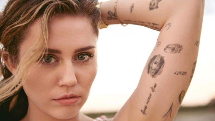 ¿Mensaje oculto para Liam Hemsworth? Miley Cyrus se tatúa de nuevo