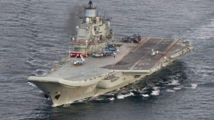 Varios heridos y un desaparecido tras incendiarse un portaviones ruso