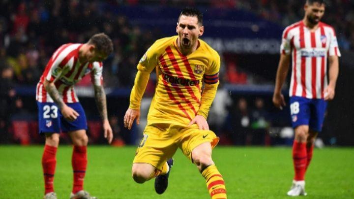 El golazo de Messi para que el Barcelona triunfe ante el Atlético