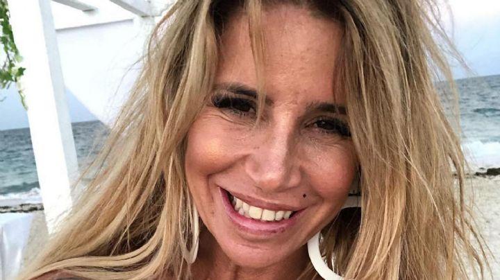 """¡Cuelga hasta el alma! Flor Peña llega a la playa """"sin maquillaje"""" y en bikini... ¡Parece una momia!"""