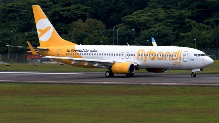 Flybondi ofrece vuelos a $1 más tasas e impuestos