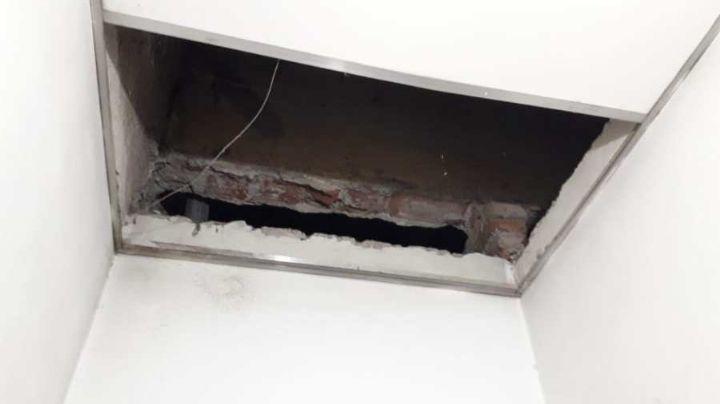 Se cayó el techo del baño sobre una maestra: Habrá paro