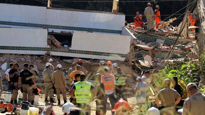Se derrumbaron dos edificios en Río de Janeiro: muertos y desaparecidos