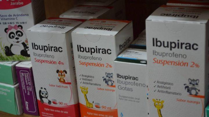 Prohíben la venta de un lote de Ibupirac para niños