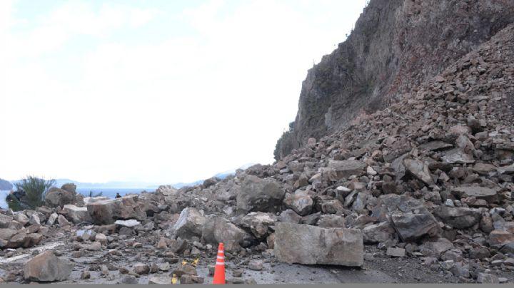Ruta 40: tras el derrumbe intentarán habilitar en una semana media calzada