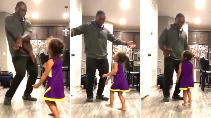 ¡Le hizo twerking! Un papá vio bailar a su hijita y no pudo más. Mirá su reacción viral