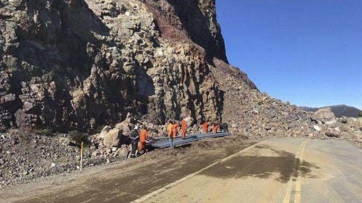 La ruta 40 sigue sin poder habilitarse en la zona del derrumbe
