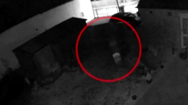 Terror en serio: cámara de seguridad grabó un fantasma en el jardín de su casa