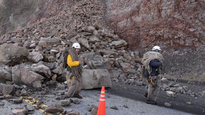 Derrumbe en la ruta 40: ¡Las rocas comenzarán a ser removidas para liberar el camino!