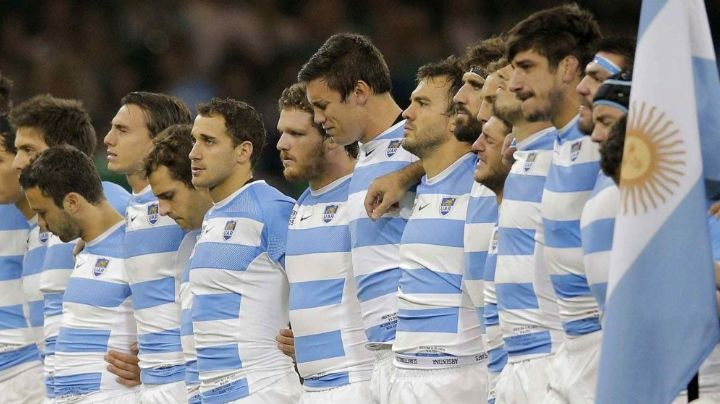 Mundial de rugby: La emoción de Los Pumas en el himno. VIDEO