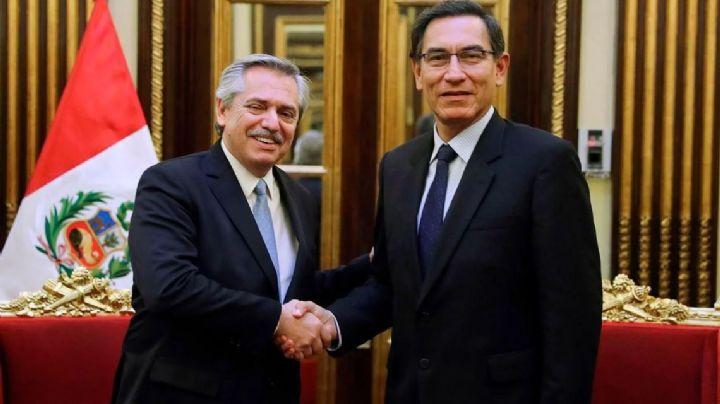 Alberto Fernández se reunió con el presidente de Perú