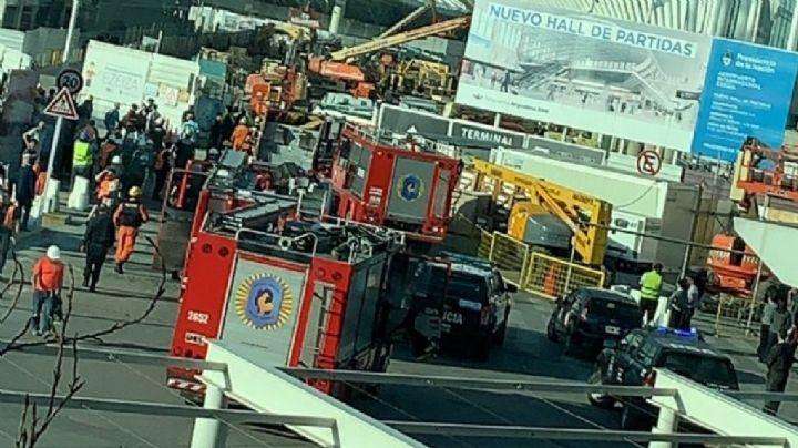 """""""Así fue el derrumbe en Ezeiza"""": El video de la tragedia en el Aeropuerto"""