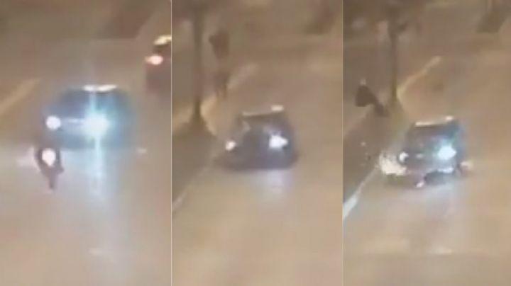 """""""Robo, persecución, accidente y muerte"""": El video de un raid fatal en San Fernando"""