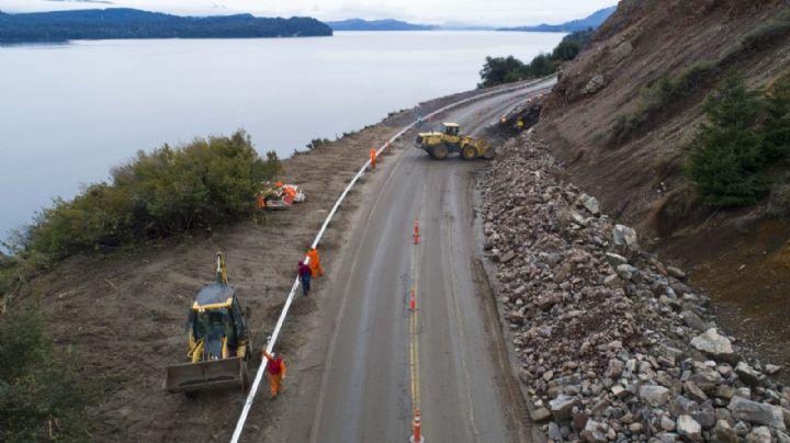 Ruta 40: Dieron inicio las obras de protección de laderas en la zona del derrumbe