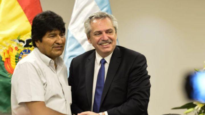 """""""Me salvó la vida"""": Evo Morales se mostró agradecido con Alberto Fernández"""