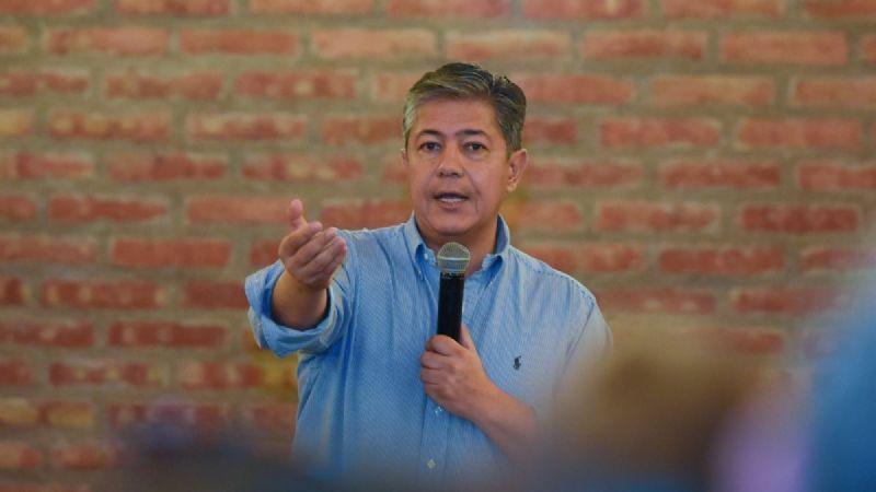 El MPN, en campaña: Rolando Figueroa hace foco en la producción